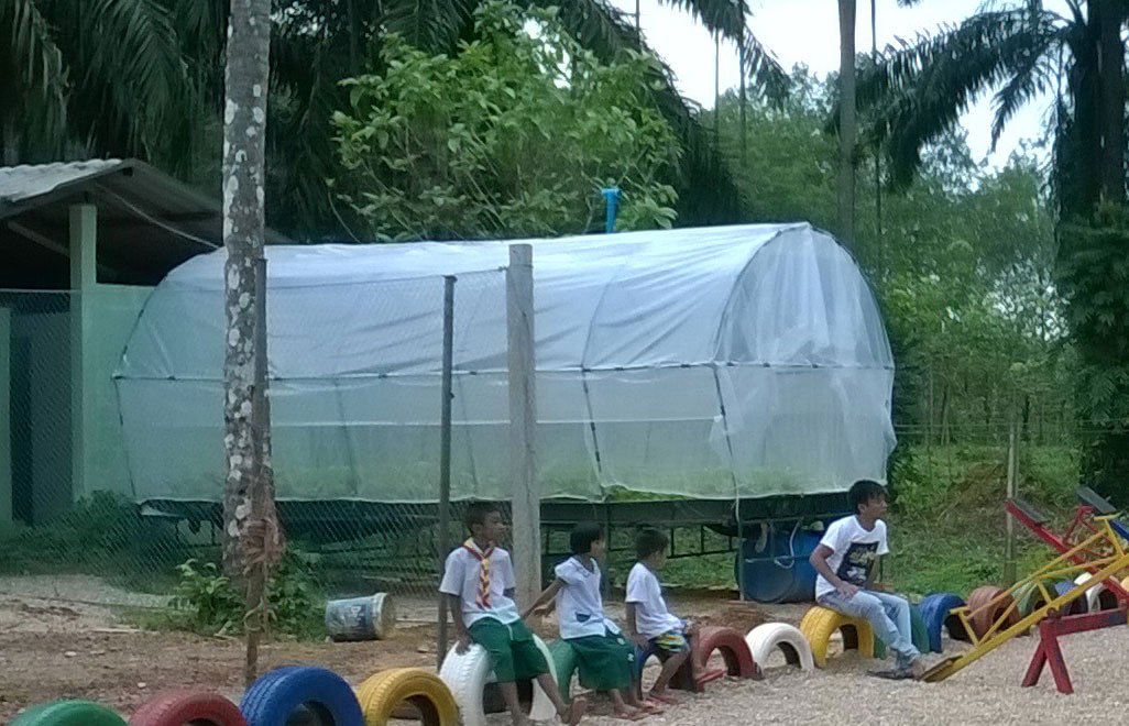 Hydroponic Garden at the Burmese Learning Center