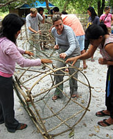 Cultural Activities - Squid trap making
